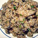 recette Burgul aux aubergines et aux herbes