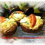 recette muffins de couscous au chèvre