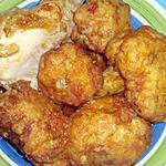 recette beignets de choux fleur en  sauce rouge  au poulet