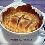 recette TOURTE AUTOMNALE AUX PLEUROTES, VESSES DE LOUP PERLÉES, CHÂTAIGNES ET CANARD
