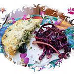 recette duo : gratin de brocolis à la brousse et chou rouge cru