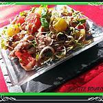 recette Salade aux graines germées et pamplemousse