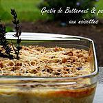 recette Ooo Gratin de courge butternut & patate douce aux noisettes ooO