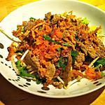 Salade de boeuf à la thailandaise