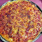 recette PIZZA AUX LARDONS FUMES