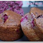recette ** Muffins Rose et Chic : biscuits roses de Reims, lychees, framboises & Champagne Rosé **