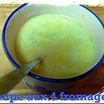 recette soupe aux 4 fromages