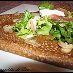 recette Galette au chèvre, champignons & jambon fumé
