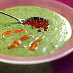 recette Velouté de persil plat aux oeufs de saumon