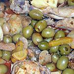 recette Tajine de poulet aux olives et aux champignons