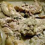 recette lapin au basilic et au rocquefort (prépa 30 mns)