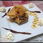 recette Aumonière au nutella et à a banane