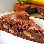 recette GATEAU CHOCOLAT BANANE