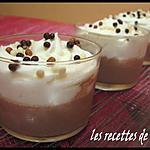 recette Mousse aux poires sur panna cotta chocolatée