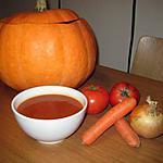 recette Soupe de potiron,tomates,oignons et carottes