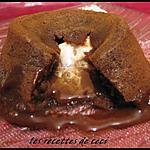 recette Petit fondant au chocolat au lait coeur nougat