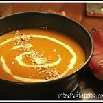 recette velouté épicé de courge butternut