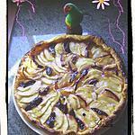 recette tarte aux pommes et quetsches