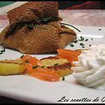 recette Aumonière au saumon fumé et sa chantilly citronnée