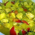 recette Curry de poulet aux pommes