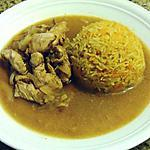 recette Dinde au Coca-Cola et son riz au paprika et aux carottes