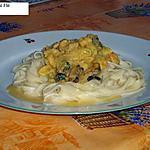 recette Tagliatelles aux fruits de mer, sauce safranée