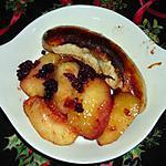 recette Boudins blancs, pommes caramélisées et airelles