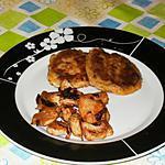 recette Galette de Pomme de Terre et sa Dinde Caramelisé aux Oignons