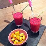 """recette """"Soupe rose"""" pour la """"Journée de Filles"""" de Pink Bra Bazaar"""