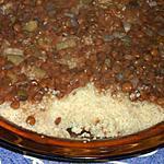 recette Couscous aux lentilles,à la noix de muscade et à la coriandre