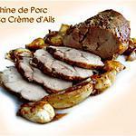 recette Echine de Porc sur sa Crème d'Ails