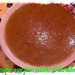 recette soupe aux pois cassé, et lardons