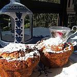 Mini-cake à la crème de marron et orange confite