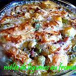 recette mélée de légumes au fromage
