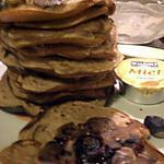 recette Une pile de Bluberry Blini à la Chataîgne