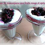 recette verrines mascarpone aux fruits rouge et spéculoos