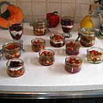 recette Farandoles de verrines aux poivrons et aux betteraves/ricotta