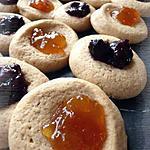recette Biscuits au beurre de cacahuètes & à la confiture