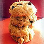 recette Cookies à la purée d'amandes & aux deux chocolats