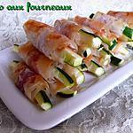 recette Bâtonnets de courgettes croustillants au parmesan & au jambon cru