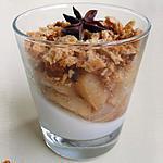 recette Pannacotta à la vanille, poêlée de pommes à l'orange & brisure de pain d'épices