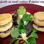recette Millefeuille au comté-endives & oignons rouges