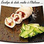 recette Ooo Escalope de dinde roulée à l'italienne ooO