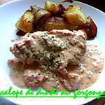 recette escalope de dinde au gorgonzola