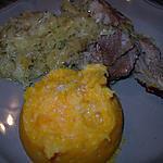 recette Epaule d'agneau au cidre sur lit de choucroute et duo de carottes & p de t en écrasé ...
