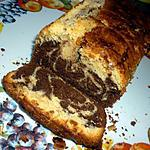 recette Marbré chocolat blanc et noir.
