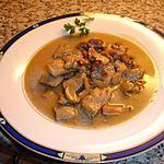 recette Emincer de porc lardons et champignons