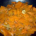 Courge confite aux épices