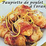 recette Petites paupiettes de poulet à l'orange
