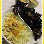 recette Moules marinières a la sauce safran